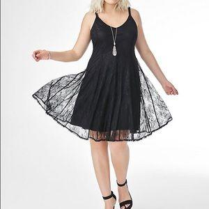 Torrid black lace A-line dress